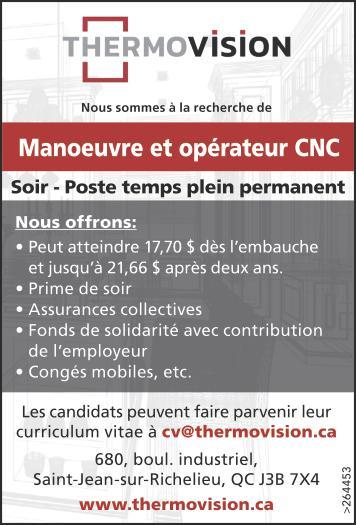 Manoeuvre et opérateur CNC