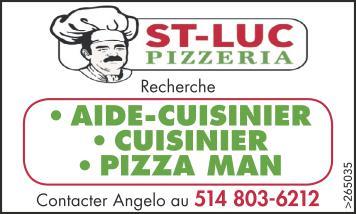 • AIDE-CUISINIER • CUISINIER • PIZZA MAN