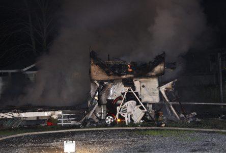 Un incendie détruit une caravane dans un camping