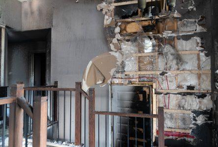 Un incendie fait deux blessés à Iberville