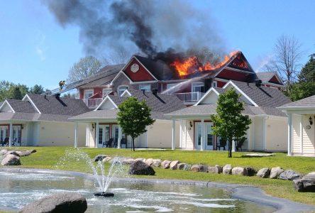 Incendie majeur à Venise-en-Québec