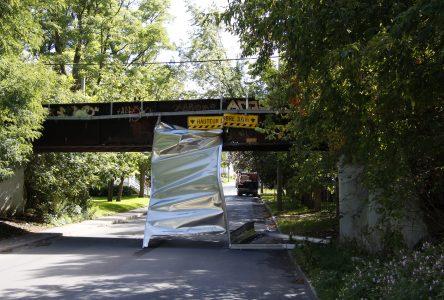 Travaux de réparation du pont du CP à Iberville