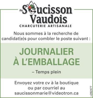 Logo de JOURNALIER À L'EMBALLAGE