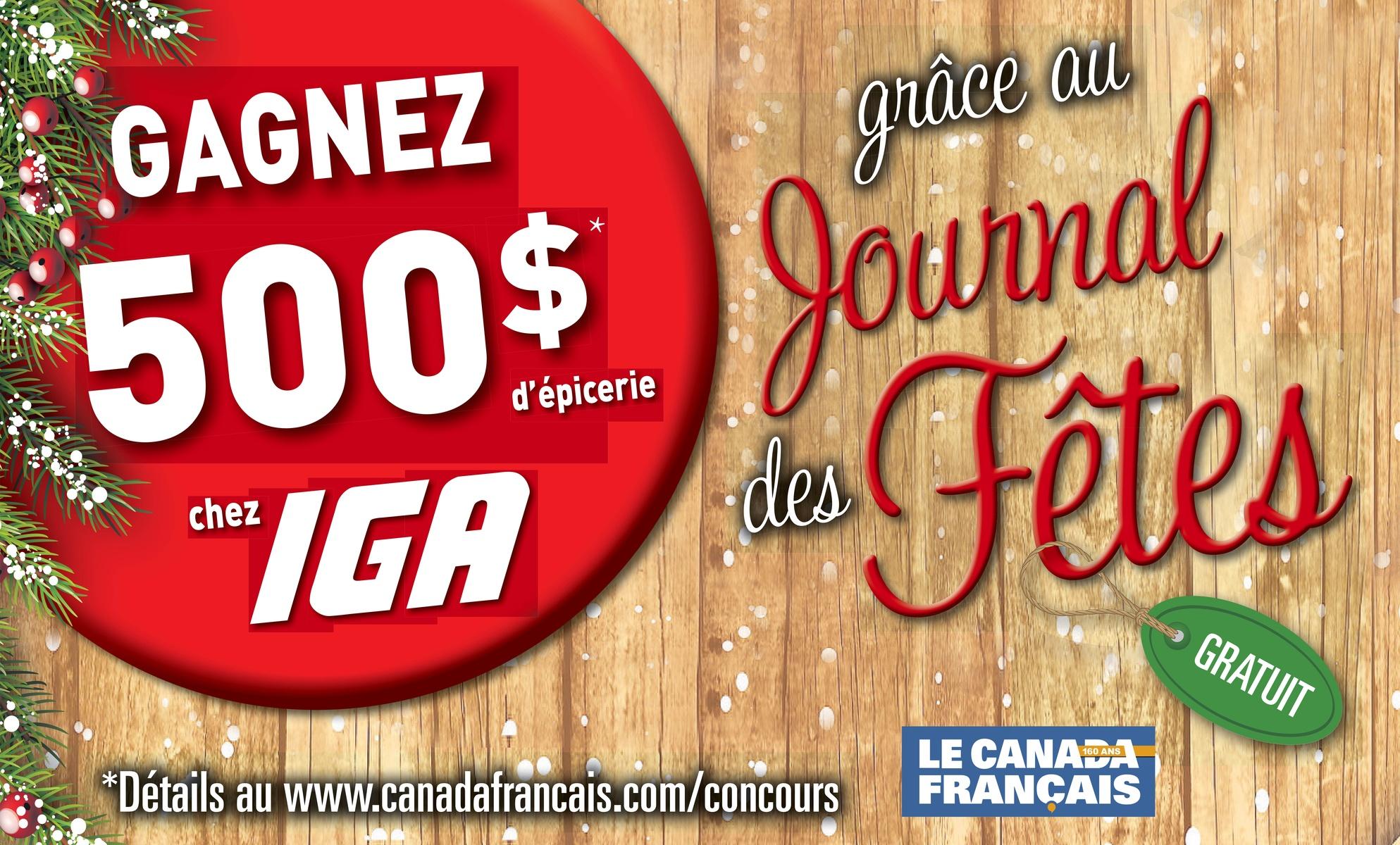 Concours des Fêtes IGA 500$