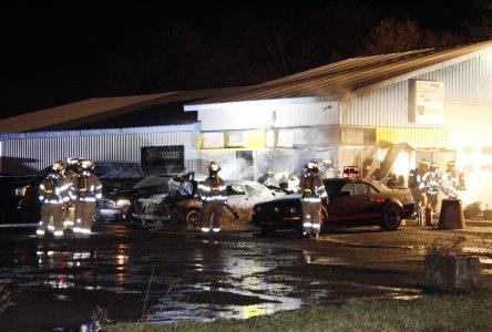 Incendie suspect à Saint-Blaise-sur-Richelieu