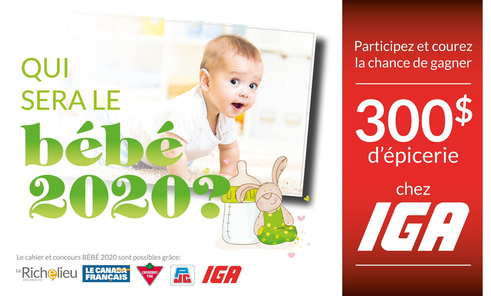 concours bébé 2020 - journal le canada francais et le richelieu