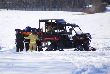 Deux accidents de motoneige font deux blessés