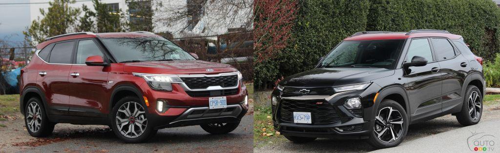 Comparaison : Kia Seltos 2021 vs Chevrolet Trailblazer 2021