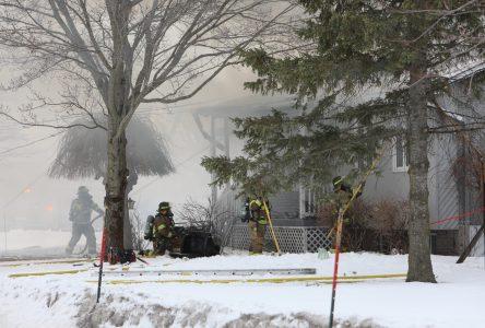 Une maison incendiée sur la rue Bellerive