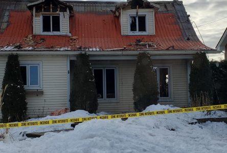 Incendie d'une maison à Saint-Blaise sur-Richelieu