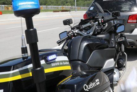 Les policiers motards de la SQ présents en fin de semaine