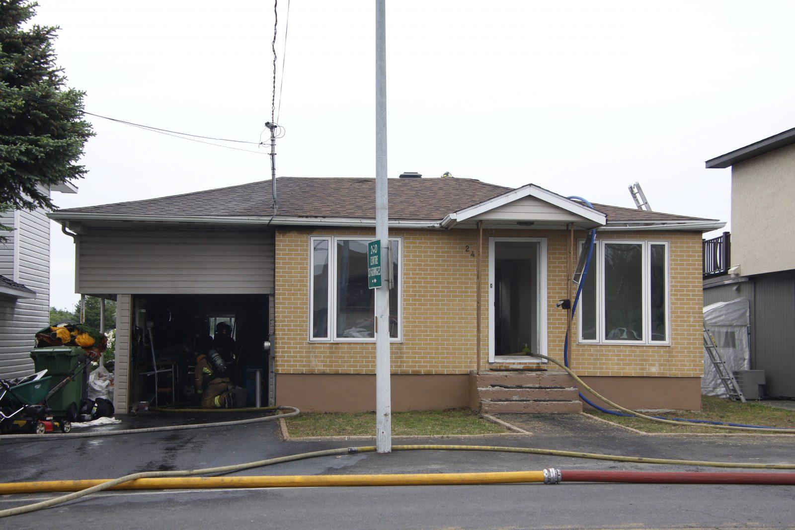 Maison incendiée sur Jean-Talon