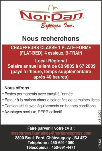 Logo de CHAUFFEURS CLASSE 1 PLATE-FORME (FLAT-BED)