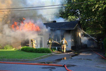 Une autre maison partie en fumée dans Saint-Eugène