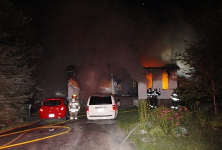 Incendie suspect à Mont-Saint-Grégoire