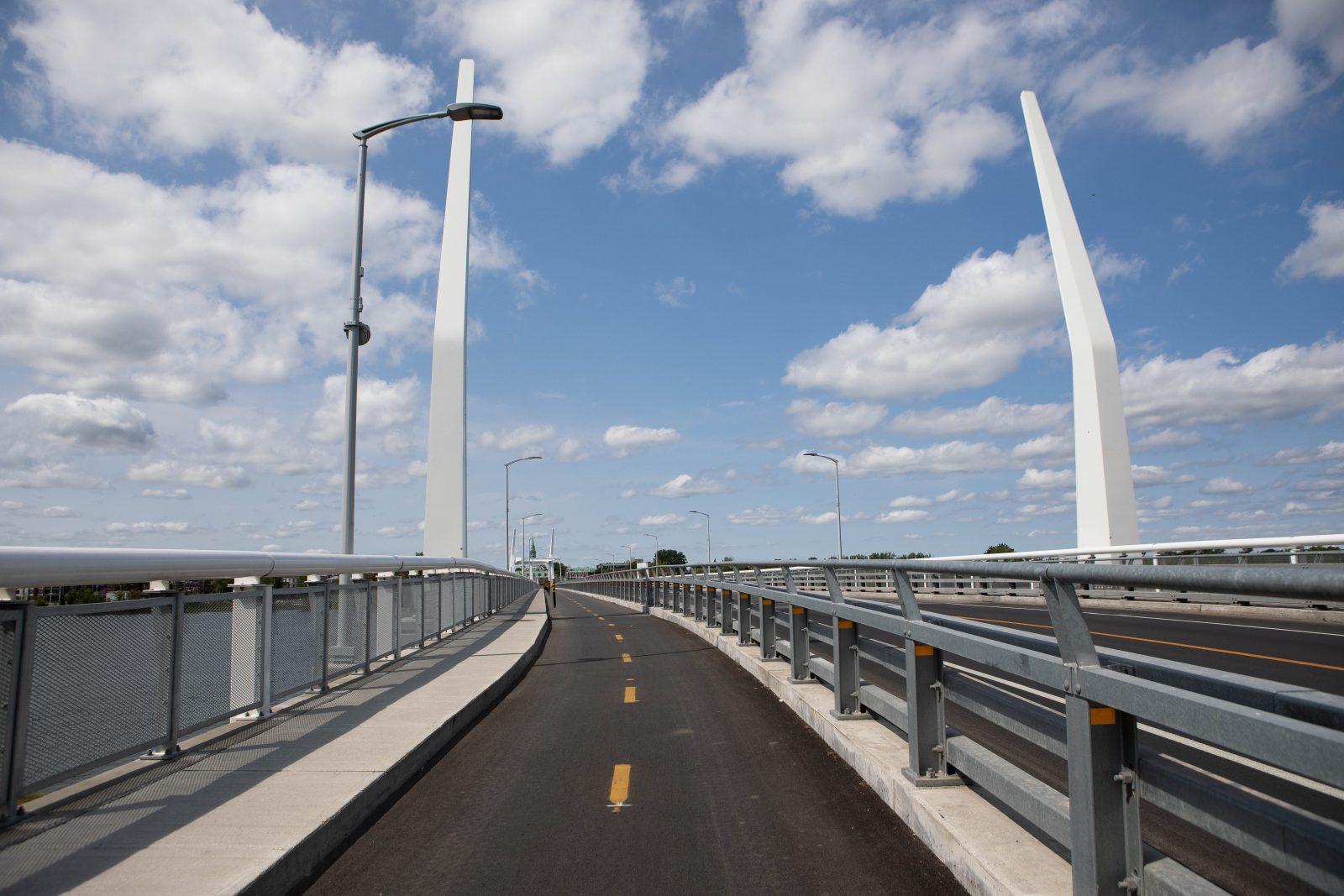 Travaux sur la piste cyclable du pont Gouin